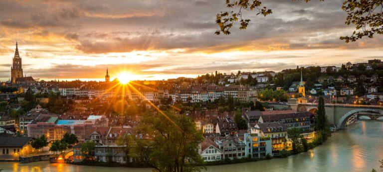 Berner Altstadt Abendstimmung