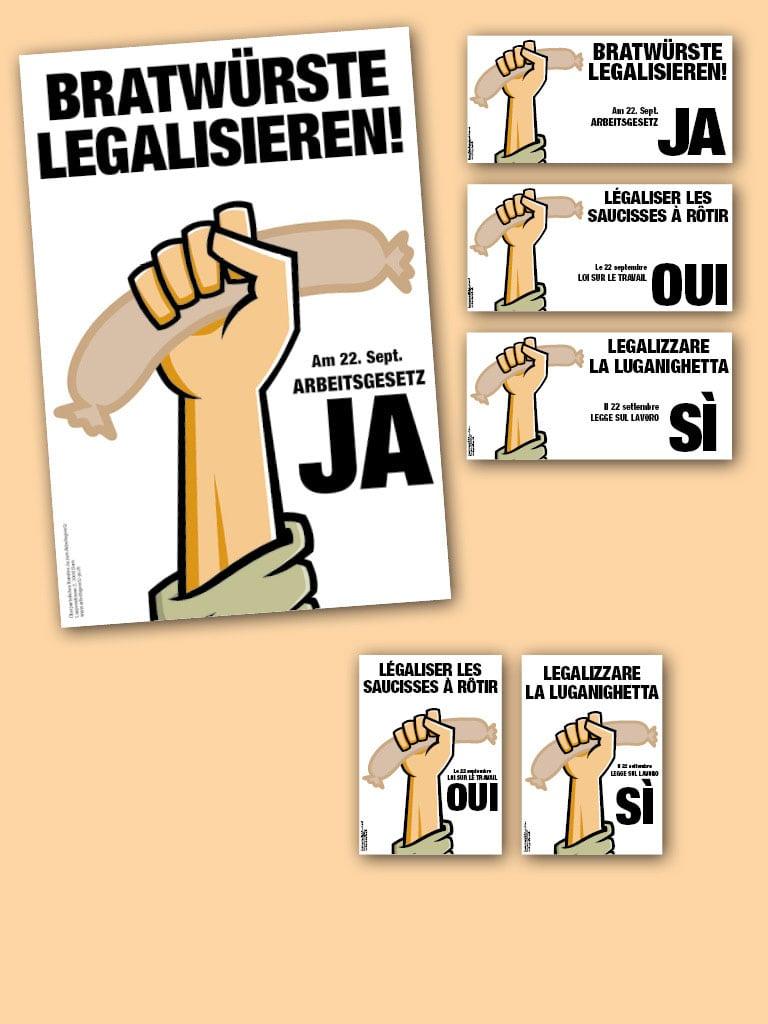 Nationale und dreisprachige Kampagne zum neuen Arbeitsgesetz