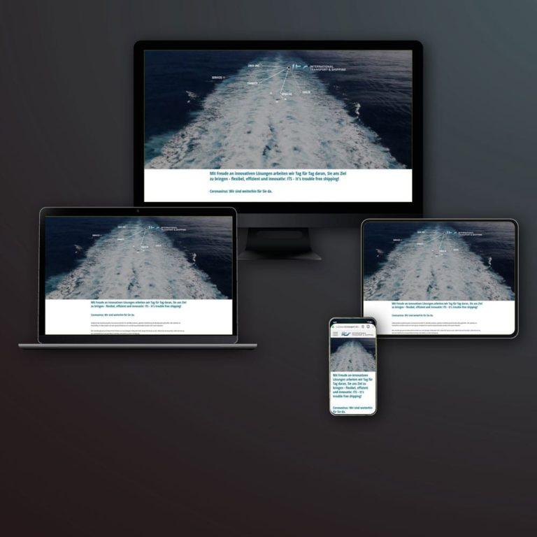 Realisierte Webseite für die Logistik- und Transportfirma ITS