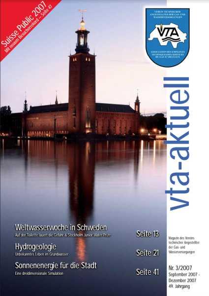 Titelbild des vta-aktuell, Ausgabe 2007-3