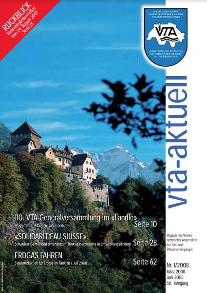 Titelbild des vta-aktuell, Ausgabe 2008-1