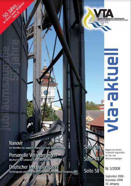 Titelbild des vta-aktuell, Ausgabe 2008-3