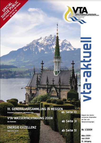 Titelbild des vta-aktuell, Ausgabe 2009-1