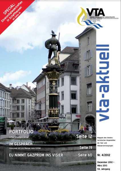 Titelbild des vta-aktuell, Ausgabe 2012-4