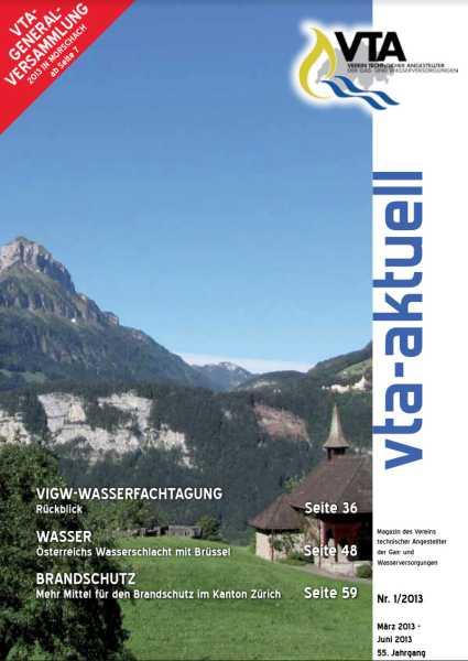Titelbild des vta-aktuell, Ausgabe 2013-1