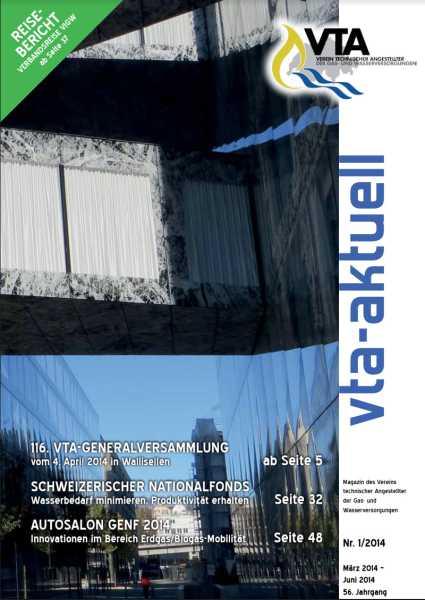 Titelbild des vta-aktuell, Ausgabe 2014-1