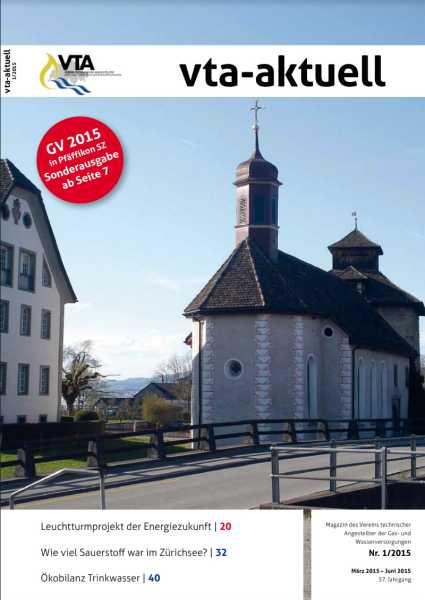 Titelbild des vta-aktuell, Ausgabe 2015-1