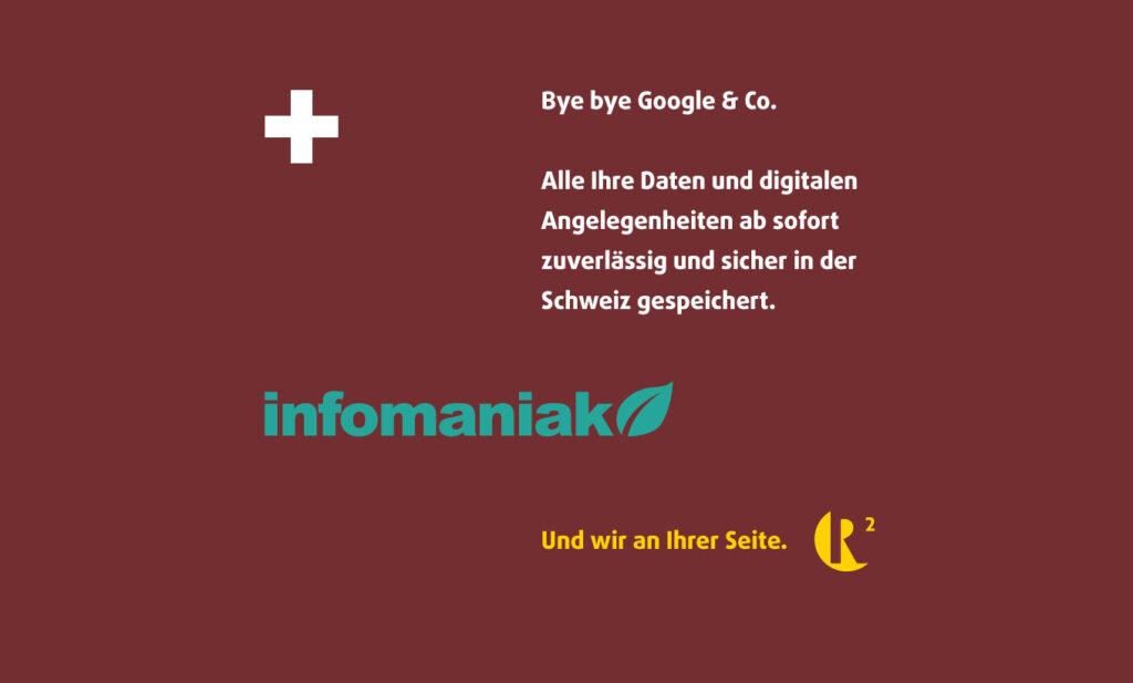 Beitragsbild Infomaniak und R hoch 2 AG