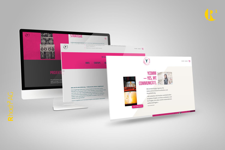 Mockup Demonstration Neue Webseite für Jenny Settembrini und Ihre Firma YComm Gmbh in Basel